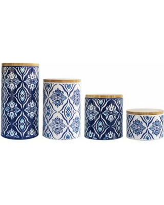 american-atelier-pirouette-blue-and-white-4-piece-canister-set-earthenware